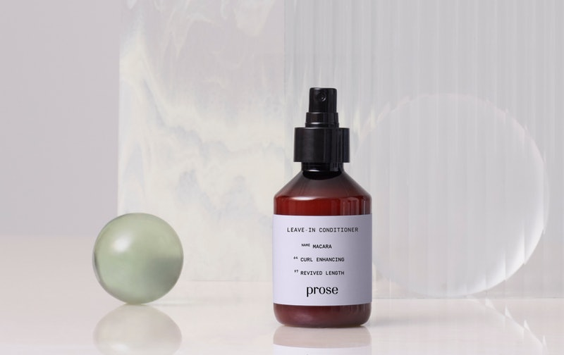 Prose's new Custom Leave-In Conditioner for curl enhancing and revived length