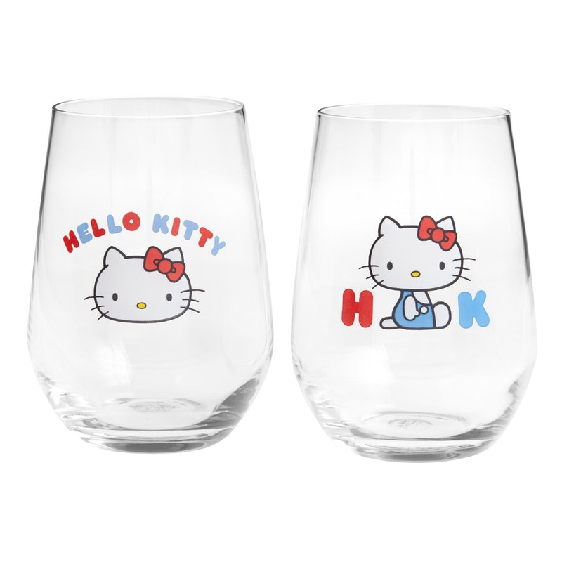 These Hello Kitty wine glasses from Sanrio and World Market are a nostalgic dream.