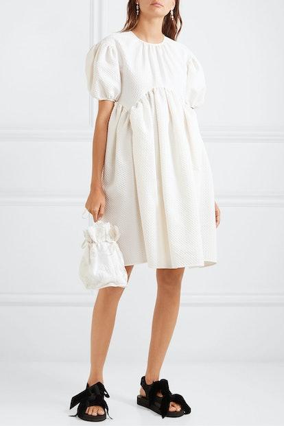 Thelma Oversized Cotton-Blend Cloqué Dress