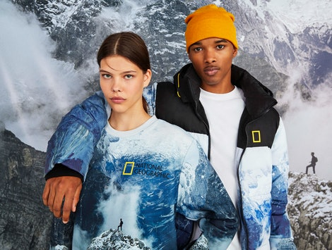 Bershka's National Geographic collection is made entirely from sustainable materials
