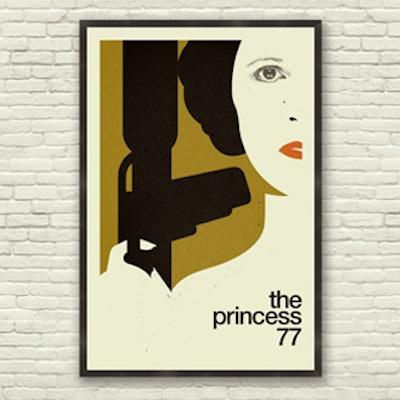 """The Princess"" Star Wars Inspired Poster Art Print (24 x 36)"