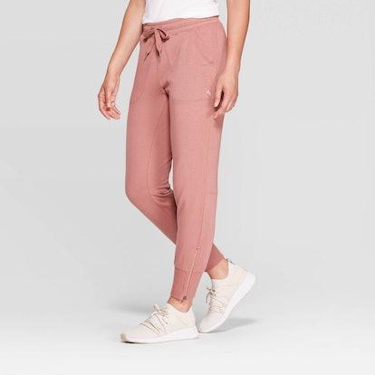 "JoyLab Mid-Rise Cozy Jogger Pants in ""Rose"""