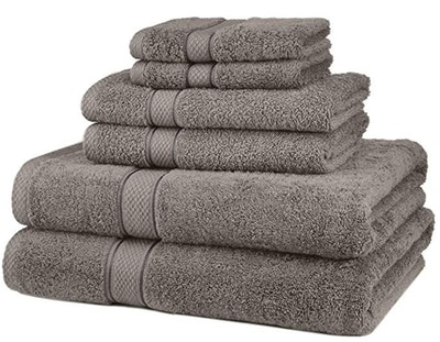 Pinzon Blended Egyptian Cotton Bath Towel Set (6-Piece Set)