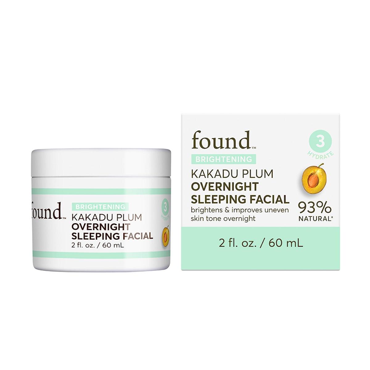 FOUND BRIGHTENING Kakadu Plum Overnight Sleeping Facial, 2 fl oz