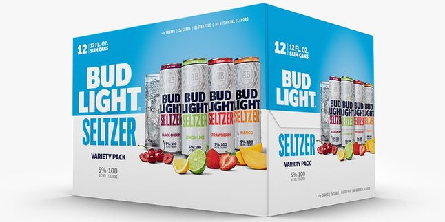 Bud Light Seltzer comes in 4 flavors and will retail in packs of 12.