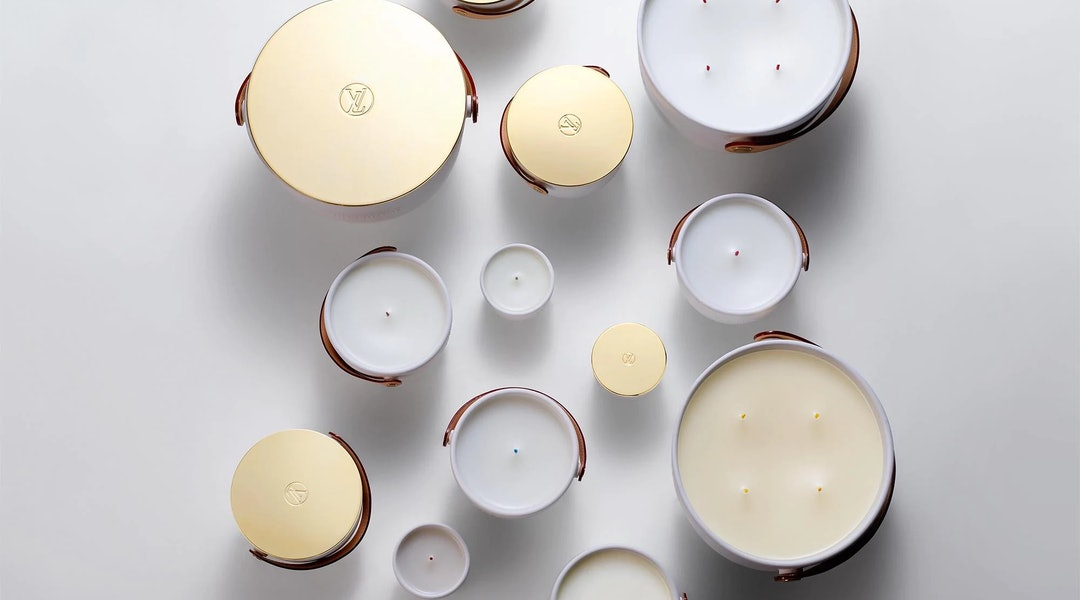 Louis Vuitton's set of miniature perfumed candles makes for a chic home addition or a very luxe hostess gift.