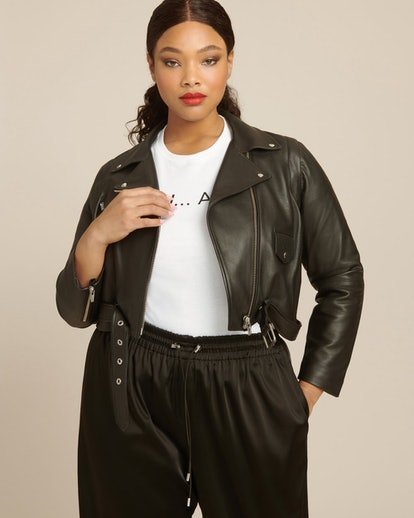 Baby Jane Zip-Off Smooth Leather Jacket