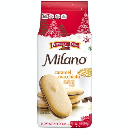 Caramel Macchiato is one of the new flavors of Milano cookies out this holiday season.