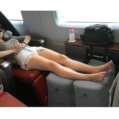 HOMCA Inflatable Travel Foot Rest Pillow