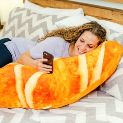 Cheddar's Scratch Kitchen has four foot long croissant body pillows for new parents.