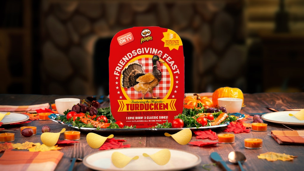Pringles' Friendsgiving Turducken Stack For Thanksgiving 2019 is the wildest thing you'll see this holiday.
