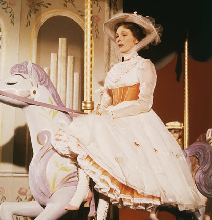 Julie Andrews in the pink and white shoes she took from the Mary Poppins set