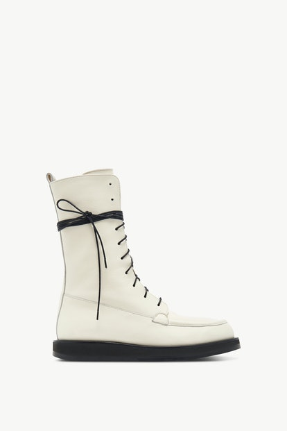 Off-White Leather Patty Boot