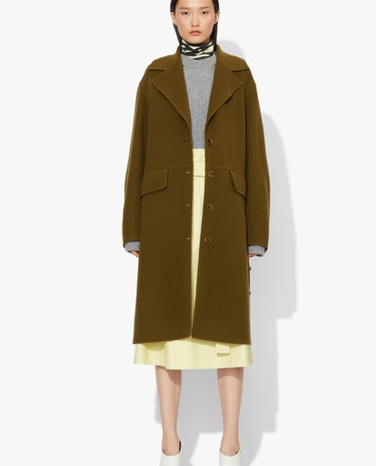Wool Cashmere Double Face Long Coat