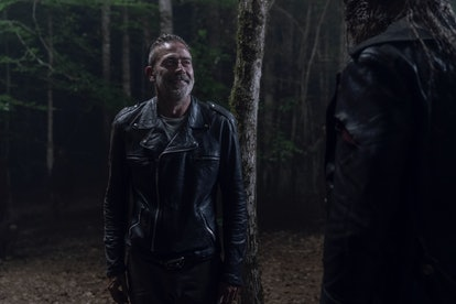 Negan encounters Beta on The Walking Dead.