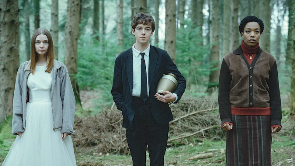 James, Alyssa, and Bonnie in The End of the F***ing World Season 2.
