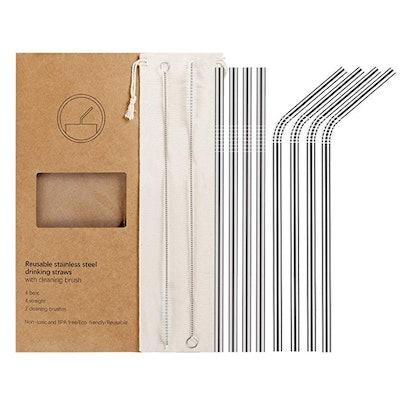 YIHONG Reusable Straws (8-Pack)