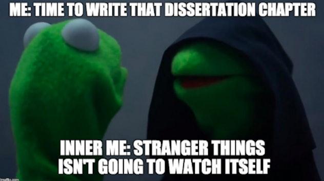 Stranger Things Kermit Meme