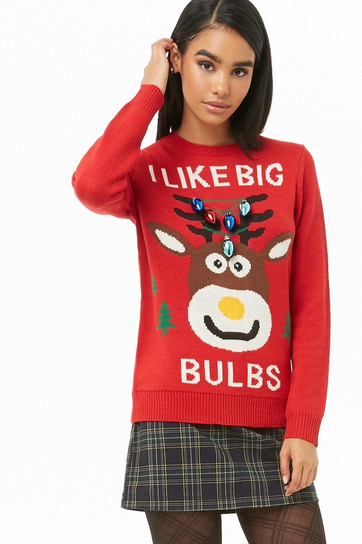I Like Big Bulbs Graphic Sweater