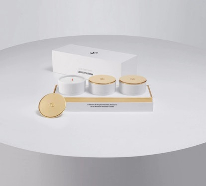 Louis Vuitton's set of miniature perfumed candles includes three different scents to elevate your home.