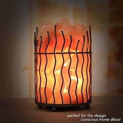 Himalayan Glow Pillar Basket Lamp
