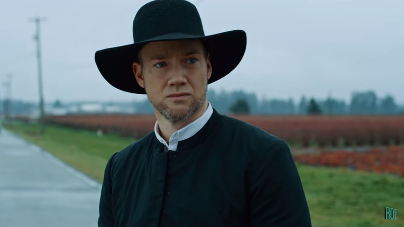 Jacob (Steve Byers) decides to leave the Amish world behind in Lifetime's 'Amish Abduction.'