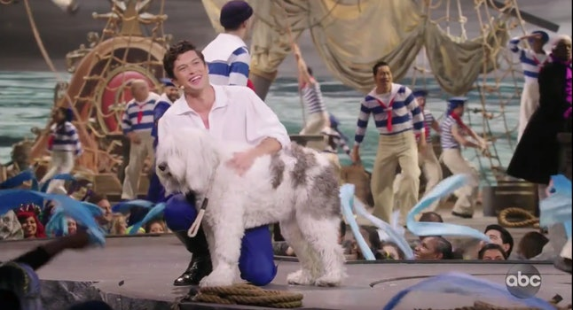 Prince Eric's dog Max in Little Mermaid Live!