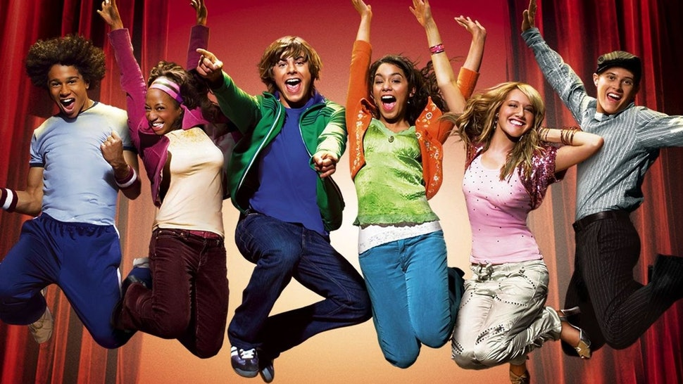 The cast of 'High School Musical' poses in a promotional shot.