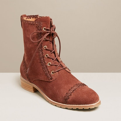 """Gemma Lace Up Bootie in """"Brown"""""""