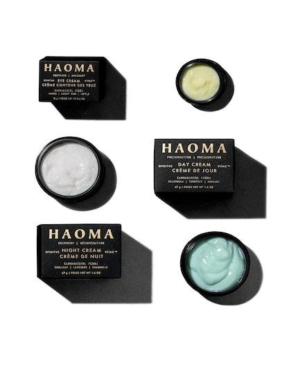 Eye cream, day cream, and night cream from new skincare brand HAOMA