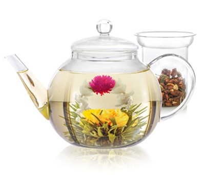 Teabloom Stovetop & Microwave Safe Glass Teapot