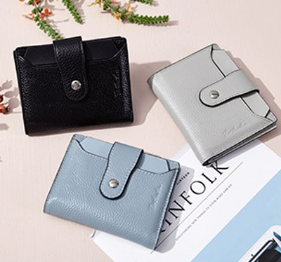 BOSTANTEN Women RFID Blocking Leather Wallet
