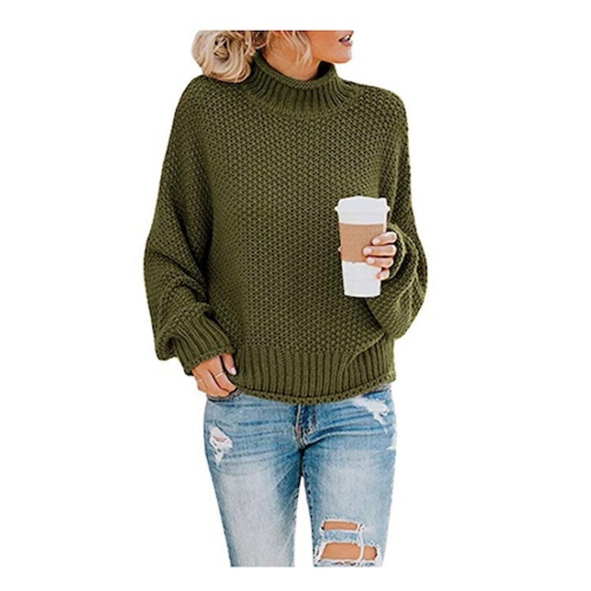 Saodimallsu Womens Turtleneck Sweater
