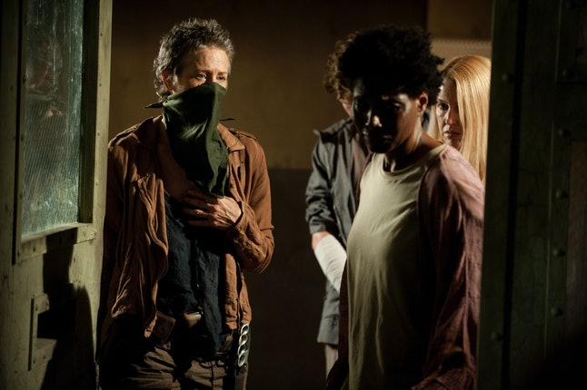 Carol (Melissa Suzanne McBride) and Jeanette (Sherry Richards) in The Walking Dead Season 4