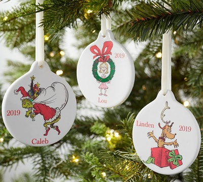 Dr. Seuss's How the Grinch™ Stole Christmas! Personalized Ceramic Ornaments