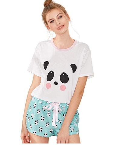 DIDK Cute Cartoon Pajama Set