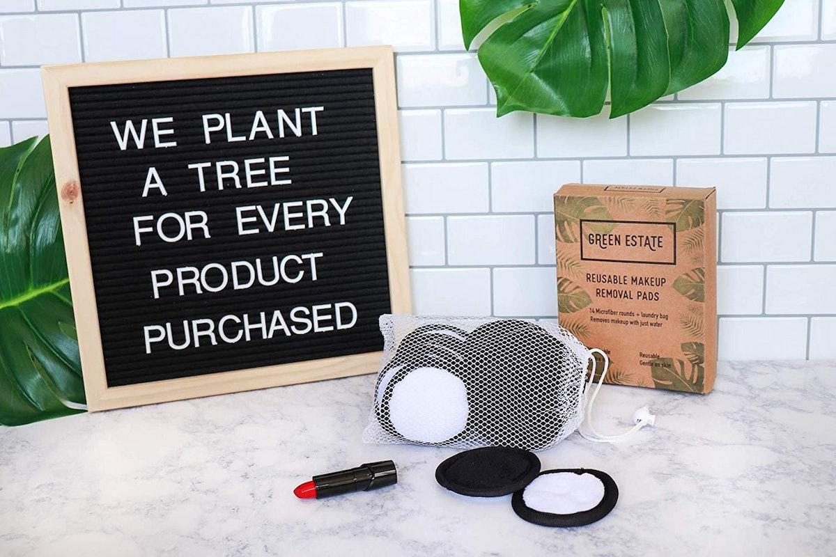 Green Estate Reusable Makeup Remover Pads (14-Pack)