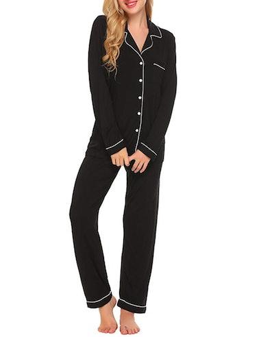 Ekouaer Long Sleeve Pajamas Set