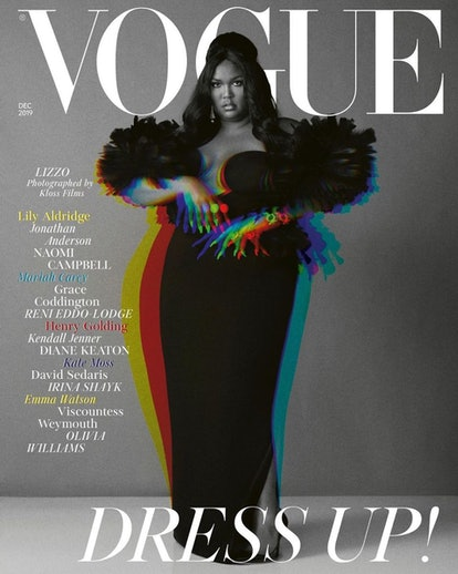 Lizzo's British Vogue cover image is all about vintage glamour.
