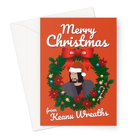 Merry Christmas From Keanu Wreaths Card