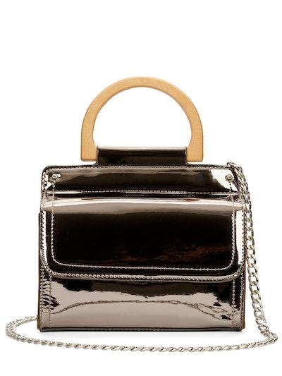 Lauren Metallic Wooden Handle Wallet On A String