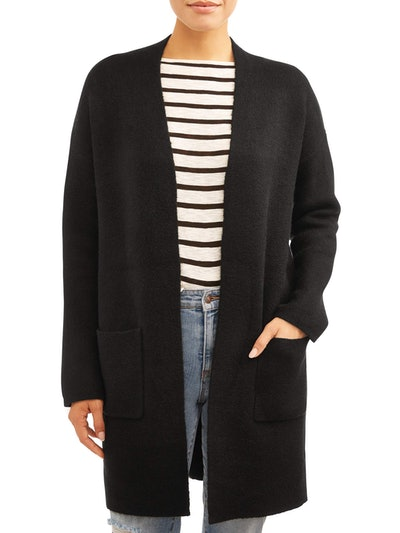 Time and Tru Women's Double Knit Cardigan