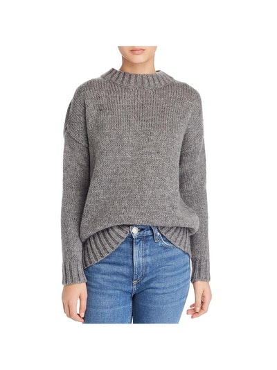 French Connection Womens Snuggle Mock-Neck Mohair Blend Pullover Sweater