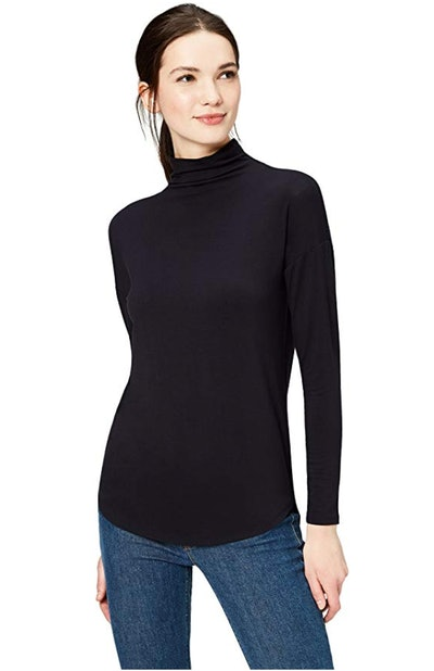 Daily Ritual Women's Jersey Long-Sleeve Funnel-Neck Shirt
