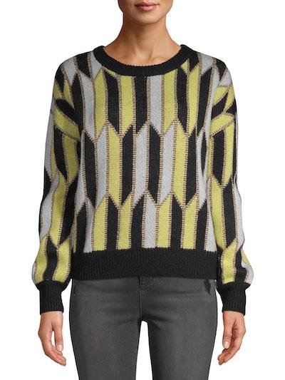 Scoop Blouson Geo Knit Sweater Women's