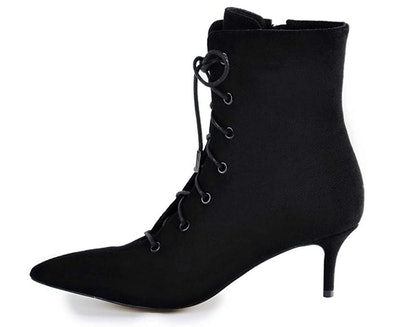 Onlymaker Women's Kitten Low Heel Ankle Bootie