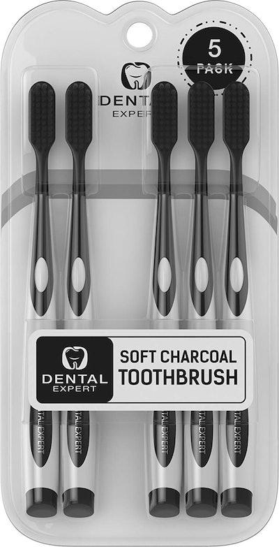 Dental Expert 5 Pack Charcoal Toothbrush
