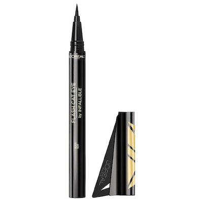 Infallible Flash Cat Eye Waterproof Brush Tip Liquid Eyeliner, Black