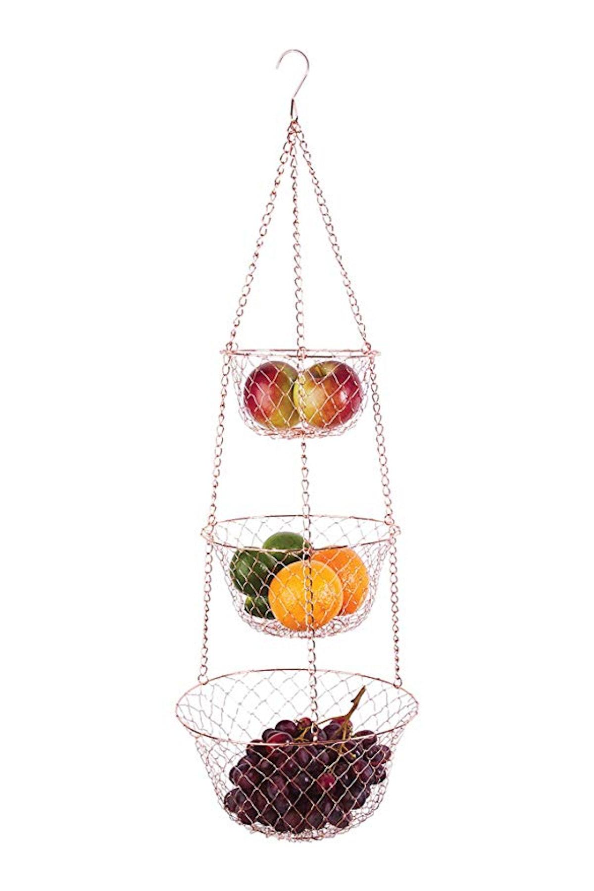 Fox Run Copper Hanging Fruit Baskets