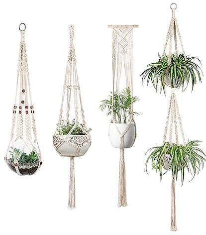 Mkono Macrame Plant Hangers Set of 4